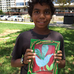 boy with painting art in the park thumbnail